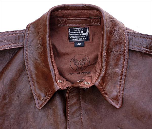 Good Wear Leather Werber Sportswear 42-1402-P Type A-2 Jacket Collar
