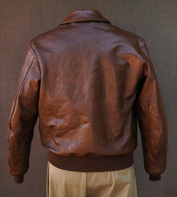 Good Wear Leather Werber Sportswear 42-1402-P Type A-2 Jacket Reverse View