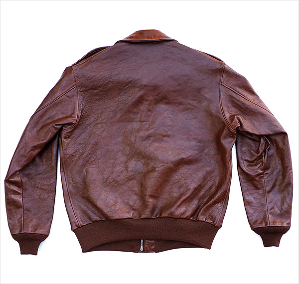 Good Wear Leather Werber Sportswear 42-1402-P Type A-2 Jacket Reverse View Flat