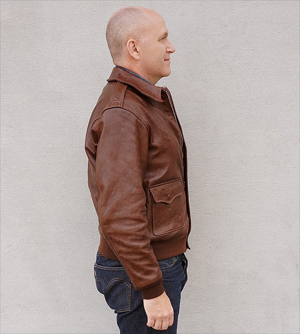 Good Wear Leather Werber Sportswear 42-1402-P Type A-2 Jacket Side View